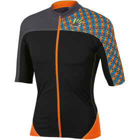 Karpos Teck Evo Jersey Heren, orange fluo/black